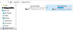 Nokia 8110 USB Storage Win 10