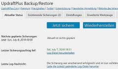 Updraft Backup Screenshot https:// Umstellung